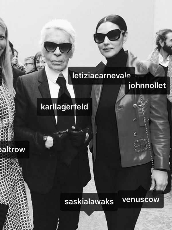 Karl Lagerfeld & Monica Belluci & Gwyneth Paltrow